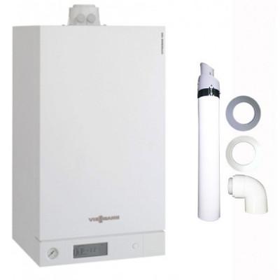 Пакет VIESSMANN: котёл конденсационный Vitodens 100-W B1KC 26 кВт c комплектом коаксиального дымохода 60/100мм