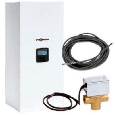 Пакет: электрокотел VIESSMANN Vitotron 100 VLN3-08, 8 квт, 230В, (котел, трехходовой клапан, датчик бойлера)