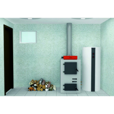 Пакет VIESSMANN: котел Vitoligno 100-S 23 кВт, бойлер Vitocell 100-E SVPA 950 л, Ecotronic 100