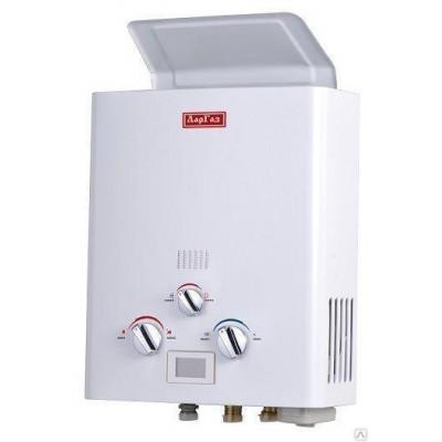 Водонагреватель проточный ЛарГаз белый 5 литров без дым.