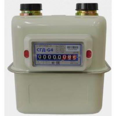 Газовый счетчик СГД G4 Т (левый, правый), резьба 1 1/4, с термокор.