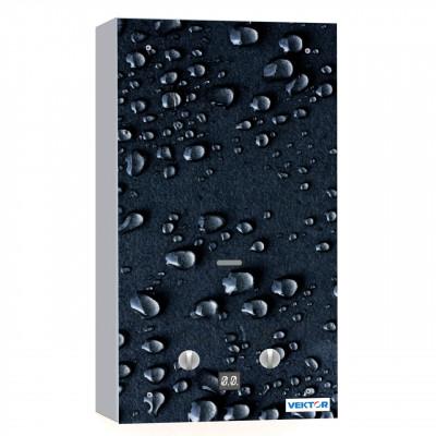 Водонагреватель газовый VEKTOR 10 G (чёрные капли)