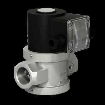 Клапаны газовые электромагнитные двухпозиционные муфтовые на DN 15 - 50 с ручным регулятором расхода