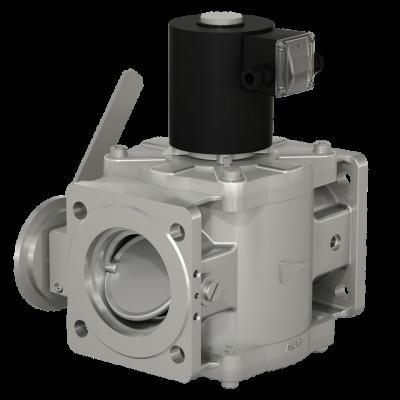 Фланцевые DN 40, 50 (давление до 0,6 МПа), DN 65 - 100, с ручным регулятором расхода и датчиком положения