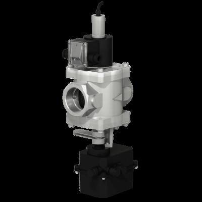 Муфтовые DN 40-50, с электроприводом регулятора расхода (привод SP0) и датчиком положения