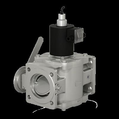 Фланцевые DN 40-100, с электроприводом регулятора расхода и датчиком положения (привод SP0)