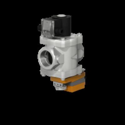 Клапаны электромагнитные двухпозиционные муфтовые с электроприводом регулятора расхода на DN 40-50 привода LM