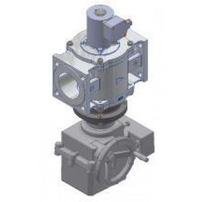 Клапаны электромагнитные двухпозиционные фланцевые с электромеханическим регулятором расхода взрыа на DN 40-80