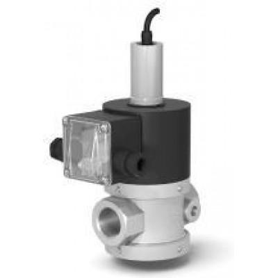 Клапан электромагнитный двухпозиционный муфтовый для жидких сред с датчиком положения на DN 15, 20, 25