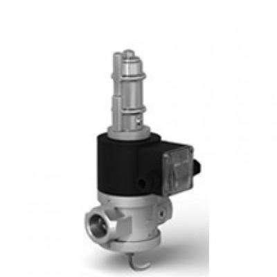 Клапаны электромагнитные двухпозиционные муфтовые на DN 15-50 с медленным открытием и датчиком положения