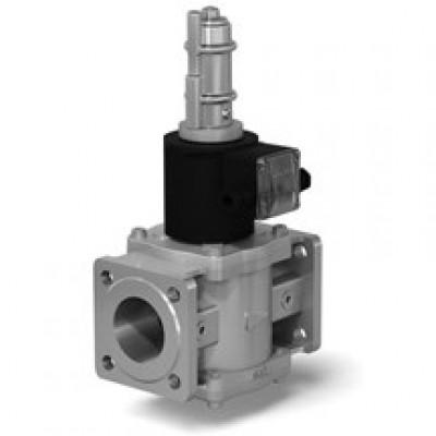 Клапаны электромагнитные двухпозиционные фланцевые на DN 15-100 с медленным открытием и датчиком положения