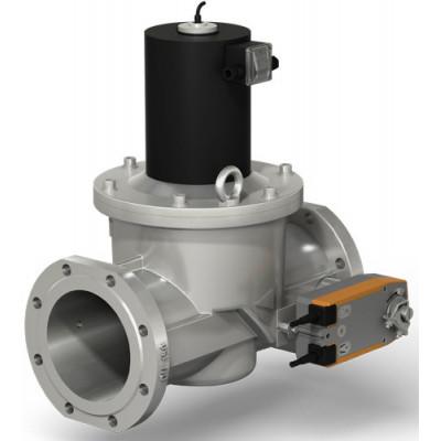 Клапаны электромагнитные двухпозиционные фланцевые на DN 125, 150 с медленным открытием и датчиком положения
