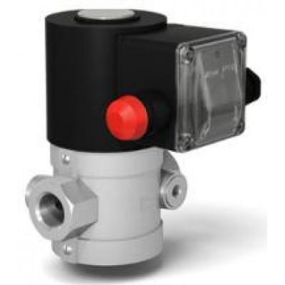 Клапан электромагнитный двухпозиционный муфтовый с ручным взводом электрического типа на DN 15-50