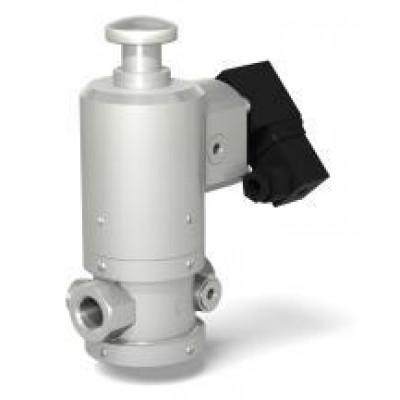 Клапан электромагнитный двухпозиционный муфтовый с ручным взводом механического типа на DN 15-50