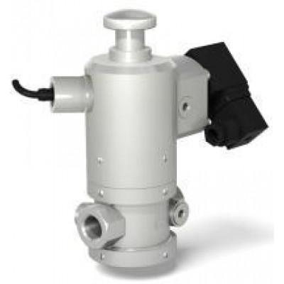Клапан электромагнитный двухпозиционный муфтовый с ручным взводом механического типа с датчиком положения
