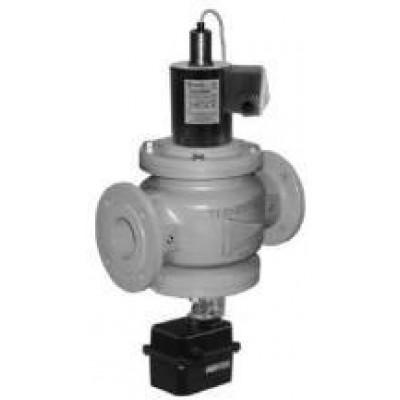Клапаны электромагнитные стальные двухпозиционные с электроприводом регулятора расхода и датчиком положения
