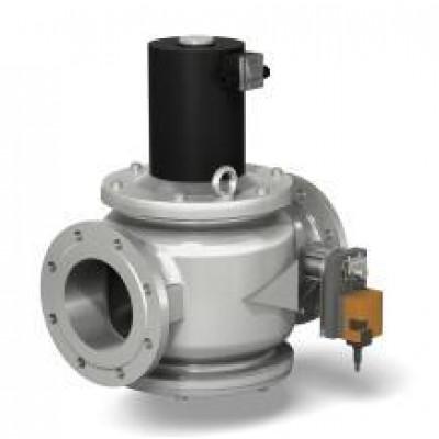 Клапаны электромагнитные стальные двухпозиционные с электроприводом регулятора расхода (DN 150, 200; привод SM