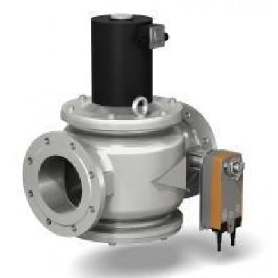 Клапаны электромагнитные стальные двухпозиционные с электроприводом регулятора расхода (DN 150, 200, привод SF