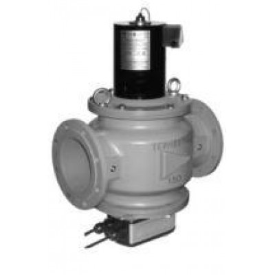 Клапаны электромагнитные двухпозиционные с э/м регулятором расхода газа и датчиком положения на DN 125-200