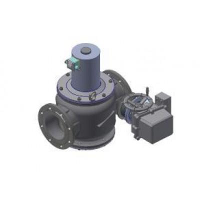 Клапаны электромагнитные двухпозиционные с э/м регулятором расхода газа и датчиком положения на DN 40-200