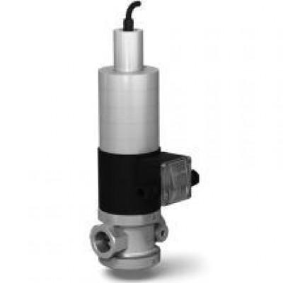 Клапан электромагнитный газовый с медленным открытием и датчиком положения